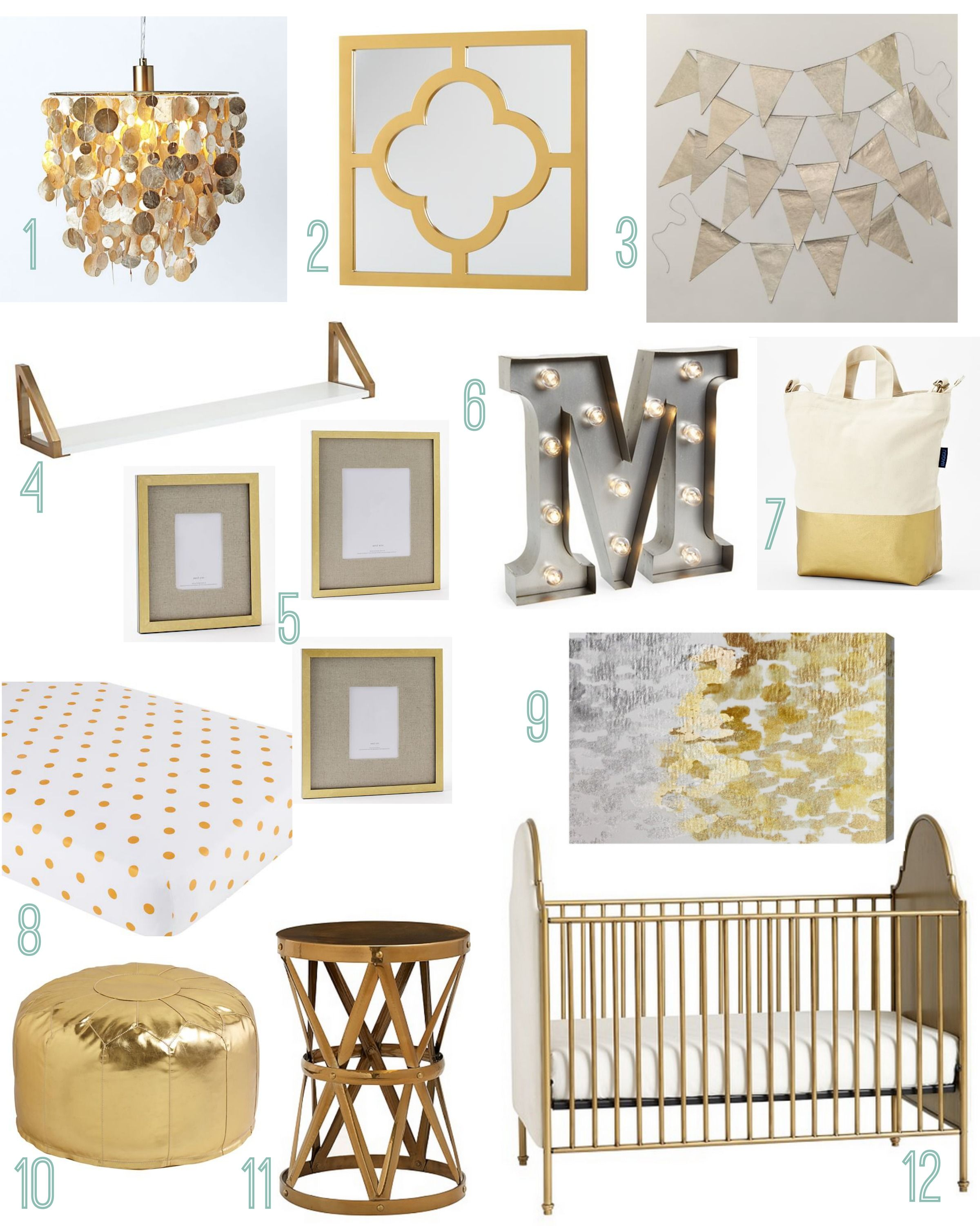 Gold Themed Girls Nursery