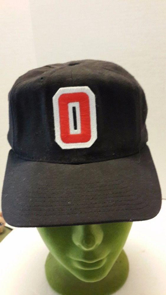 Vintage Ohio State Ball Cap Block O Black Sz 7 1 8 University Square Pro Model Universitysquare Ohiostatebuckeyes Ball Cap Ohio State Cap