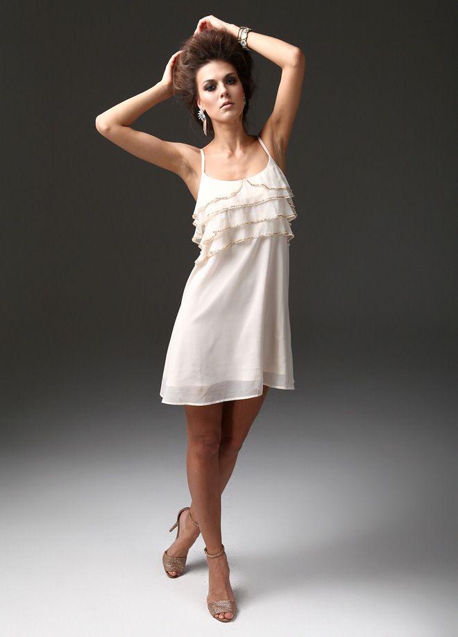 6d3792d8007f3 Markafoni adlı kullanıcının Partinin Yıldızı panosundaki Pin | Cold  shoulder dress, White dress ve Dresses