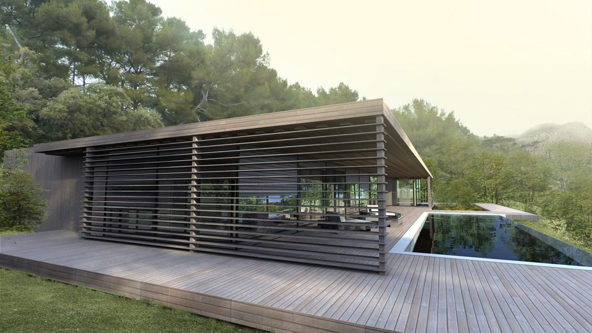 maison contemporaine bois architecture pinterest architecture house and pool houses. Black Bedroom Furniture Sets. Home Design Ideas