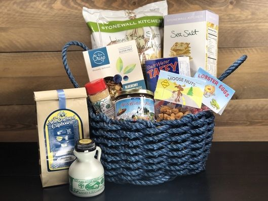 Best of Maine Deluxe Lobster Rope Gift Basket Gift Baskets, Maine, Sympathy Gift Baskets
