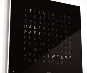 Qlocktwo Text Clock Cool Clocks Modern Clock Clock