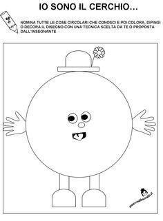 Schede didattiche figure geometriche per bambini di 3 4 for Schede bambini 3 anni