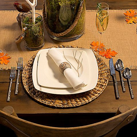 Set a beautiful Thanksgiving dinner table with this Rustic Collection. Choose from festive place settings & Set a beautiful Thanksgiving dinner table with this Rustic ...