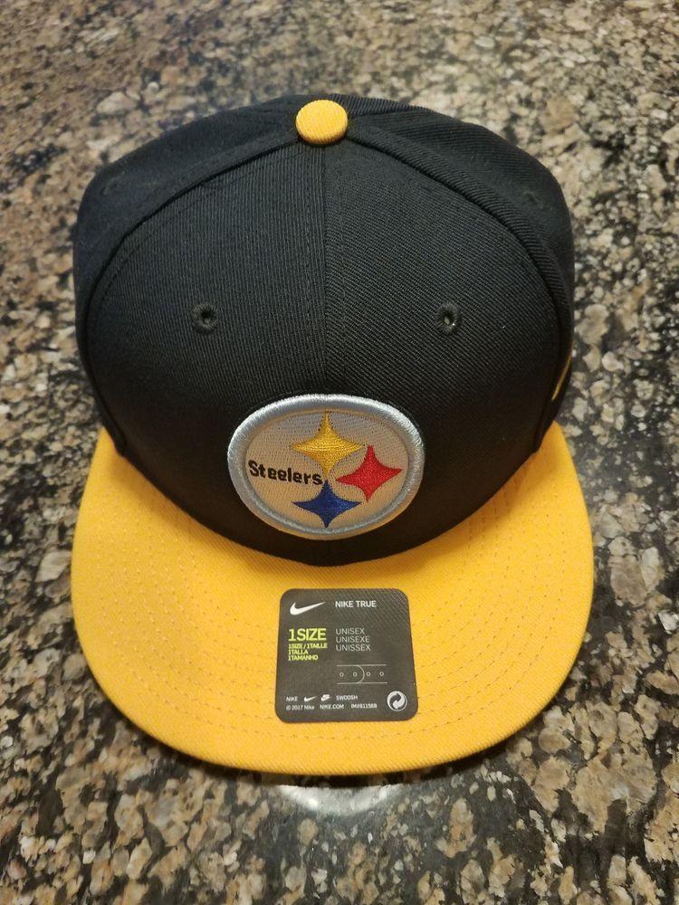5c935fd3c Nike NFL Pittsburgh Steelers Snapback Flatbill NikeTrue 845688-010 Hat One  Size  Nike  PittsburghSteelers
