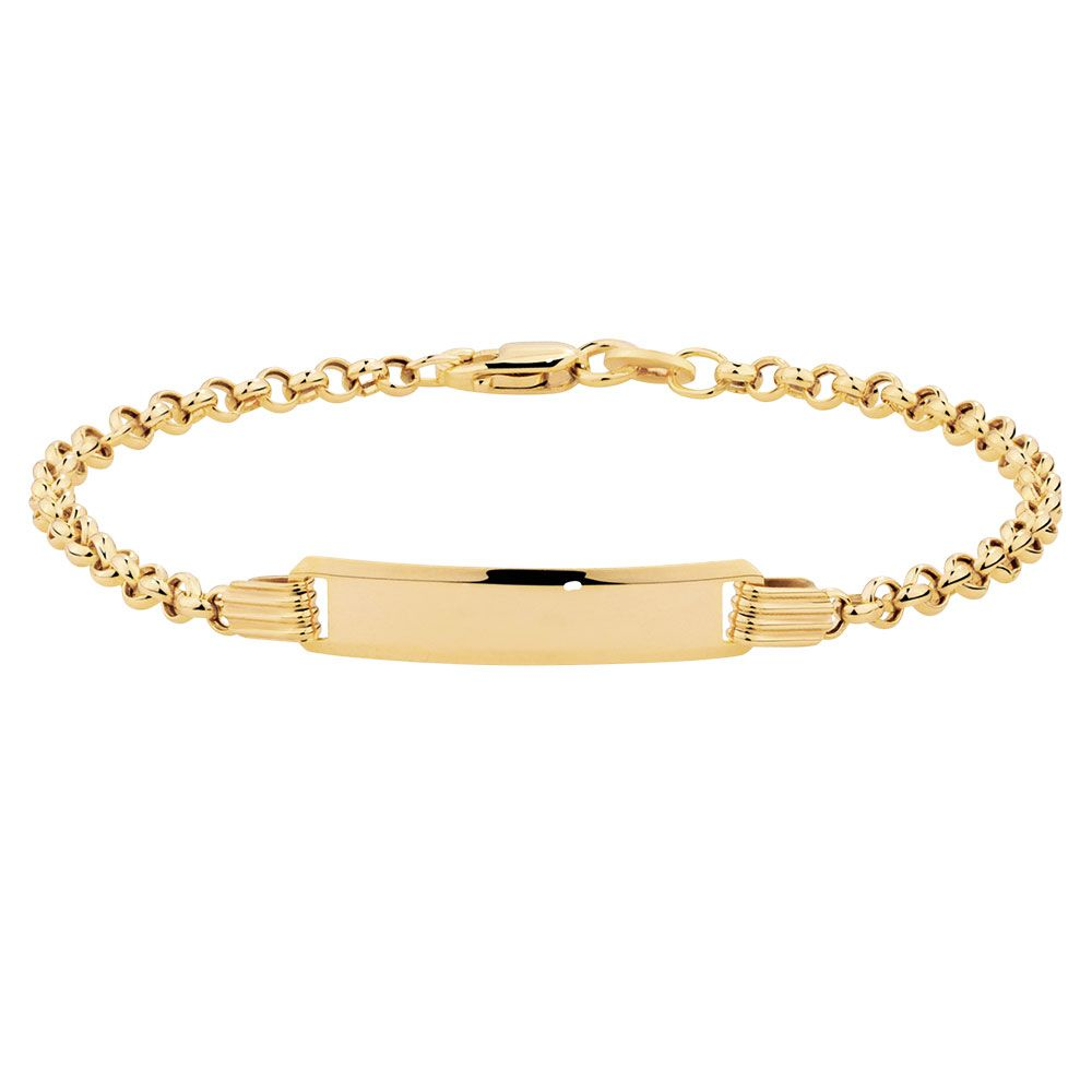 A Wonderful Keepsake For Newborn Loved One This 10ct Yellow Gold Baby Ideny Bracelet