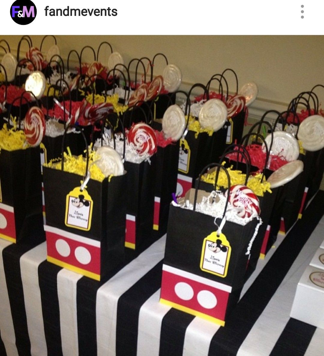 Mickey Mouse Custom Goody Bags Mickey 1st Birthdays Mickey Mouse Clubhouse Birthday Party Fiesta Mickey Mouse