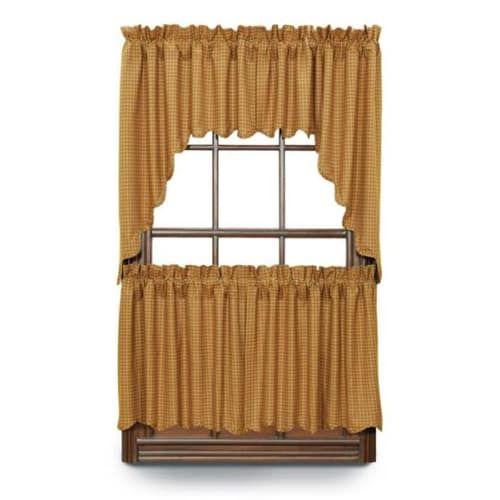 Burlington Scalloped Curtain Tiers 36 W X 24 L Curtains Drapes