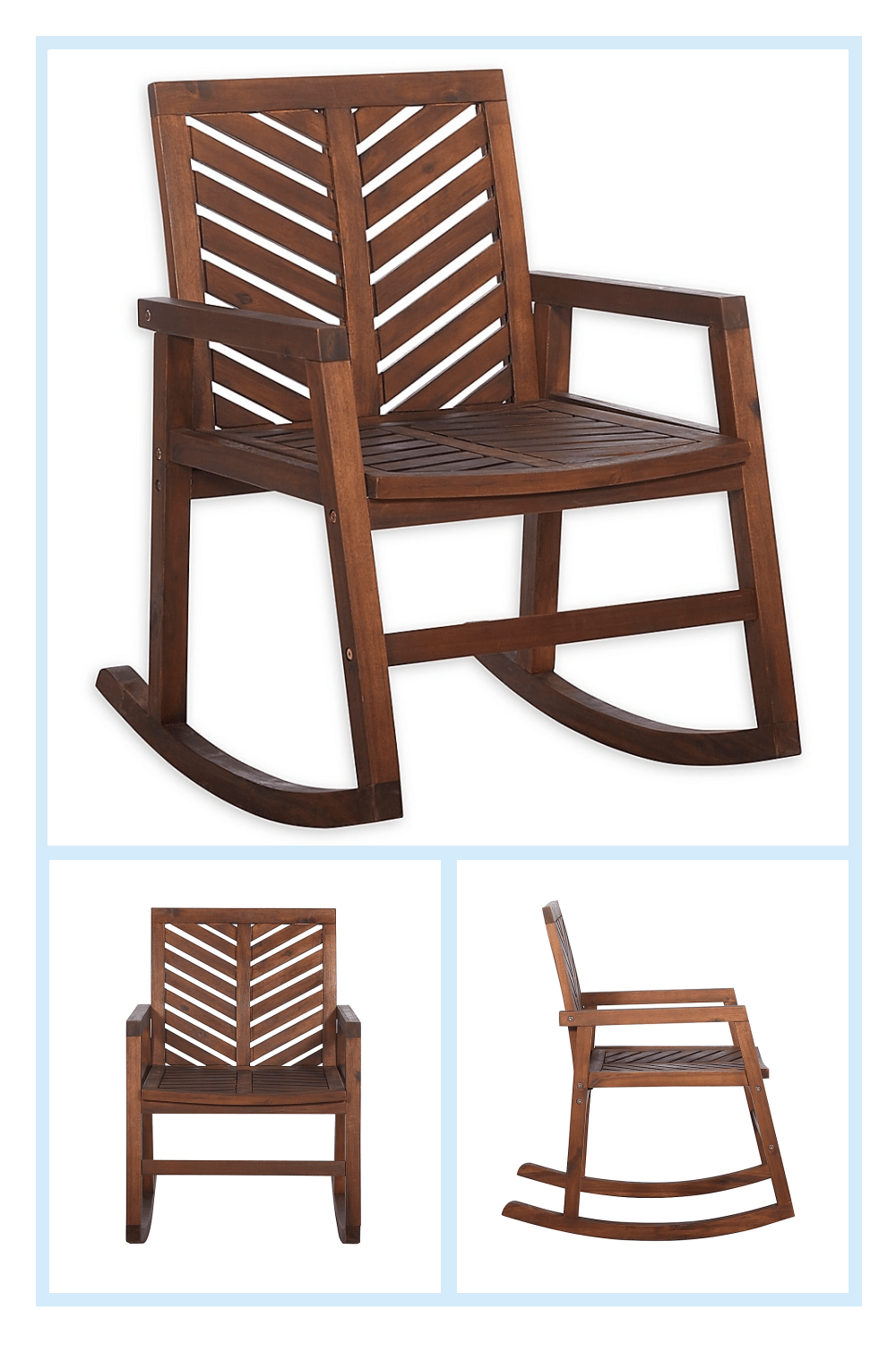 möbel Forest Gate Olive Acacia Wood Outdoor Rocking Chair
