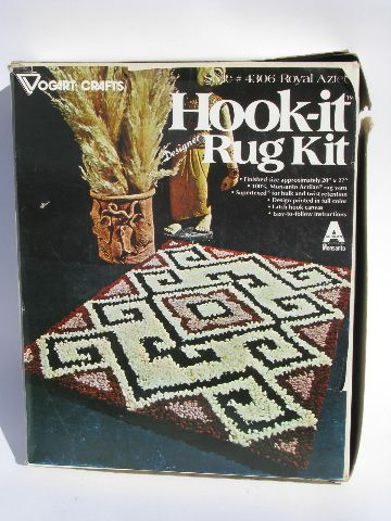Pin On 70 S Aztec Hook Rug Kit