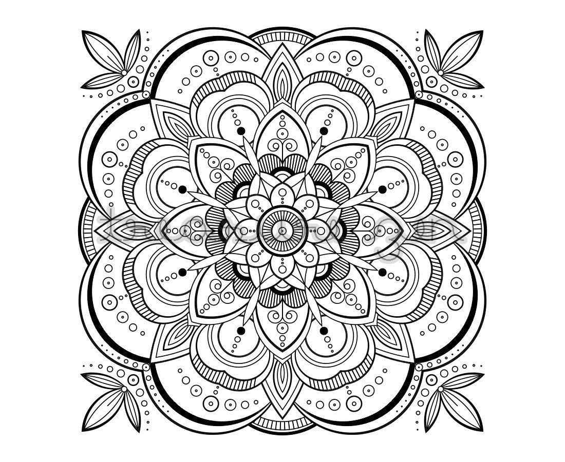 Printable Mandala Coloring Pages Coloring Page Mandala Coloring