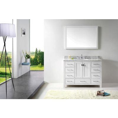 Virtu USA GS-50048-WMRO-WH Transitional 48-Inch Single Sink Bathroom Vanity Set White https://modernbathroomvanitiesreviews.info/virtu-usa-gs-50048-wmro-wh-transitional-48-inch-single-sink-bathroom-vanity-set-white/