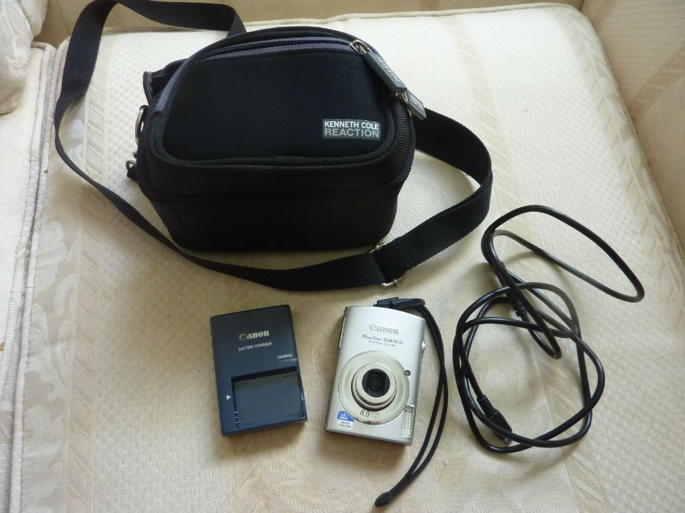 Canon Powershot Digital Sd870 Is 8 0 Mp Camera Fix Battery Charger Cole Case K0 Ebay Powershot Battery Charger Canon Powershot