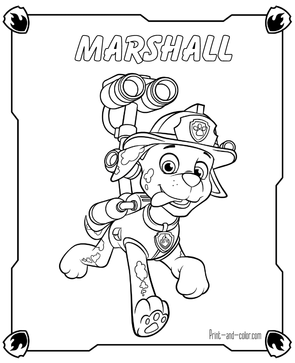Free coloring pages paw patrol - There Are Many High Quality Paw Patrol Coloring Pages For Your Kids Printable Free In