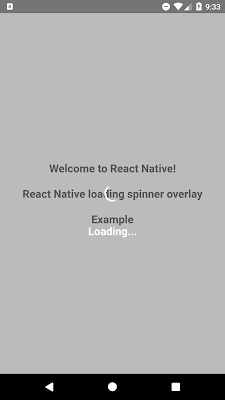 React Native Loading Spinner Overlay | SKPTRICKS | React in