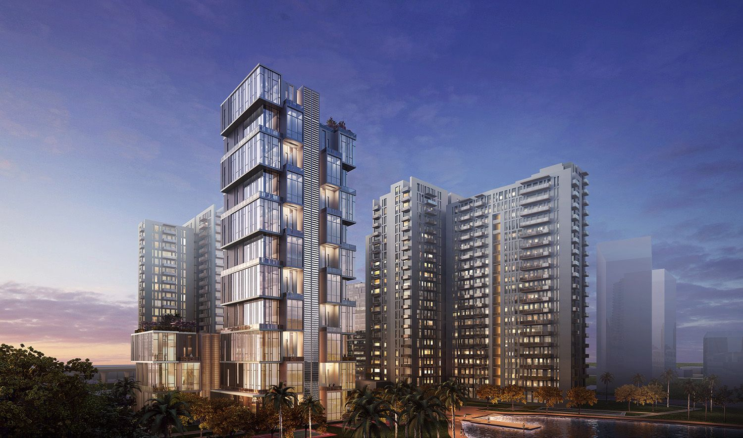 HOK Tall Buildings Bangalore india, Master plan and Building