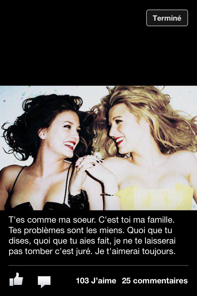 extrait meilleures amies gossip girl proverbes et pens es pinterest bff friendship quotes. Black Bedroom Furniture Sets. Home Design Ideas