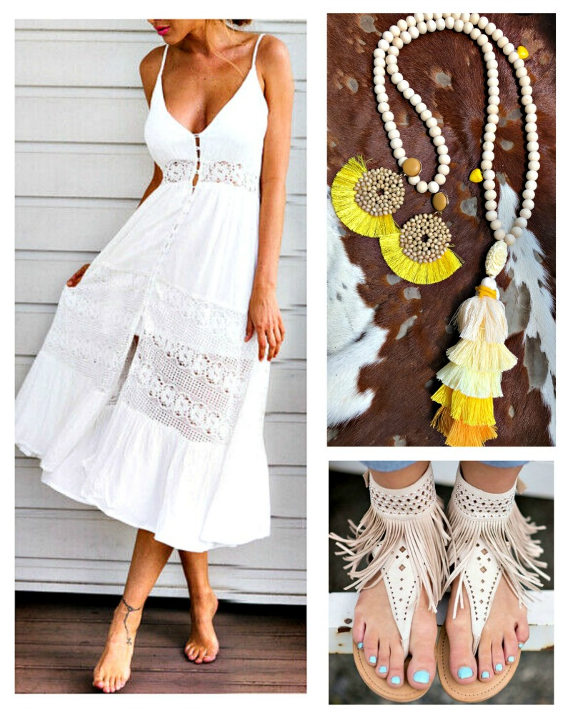 THE ELLIE DRESS White Floral lace Insert Sleeveless Smocked