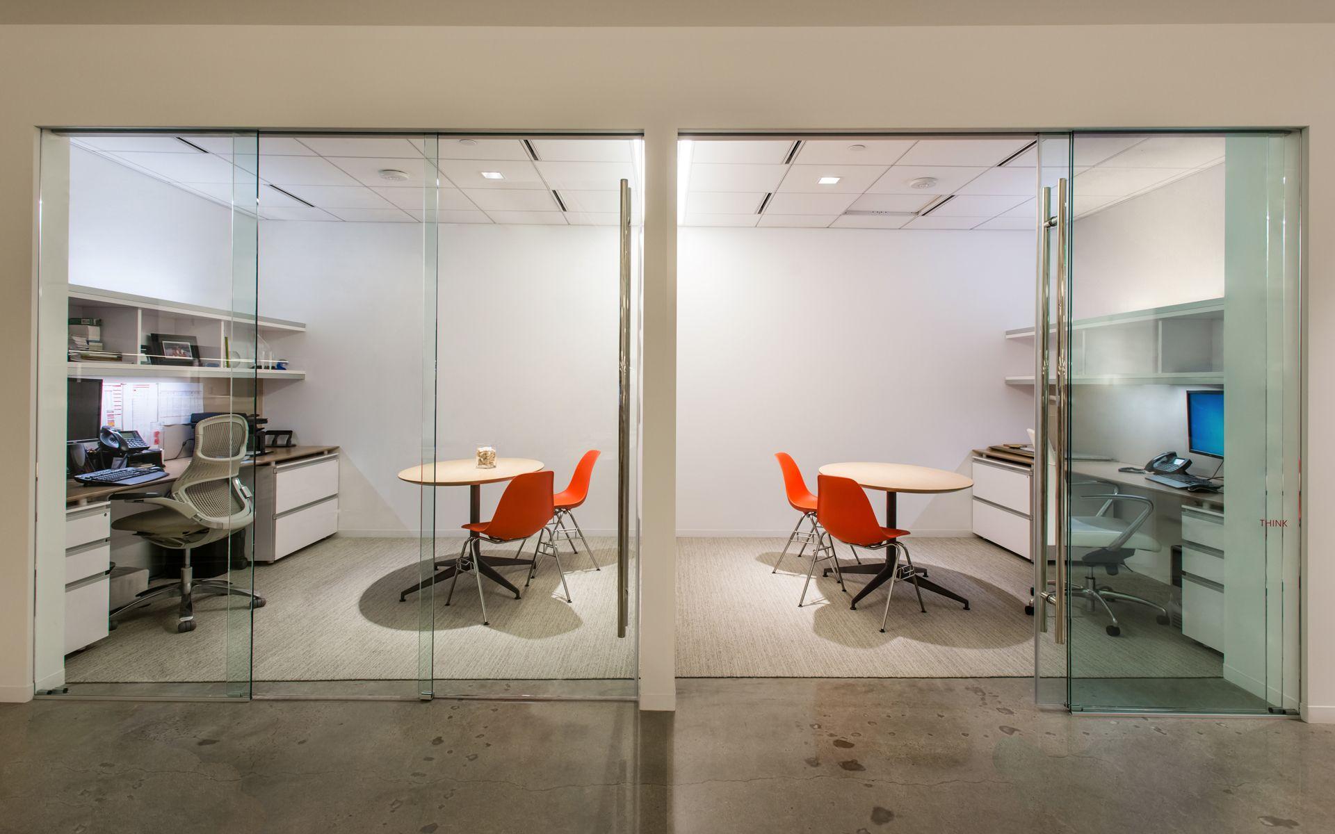 Gensler Office In California Sliding Telescopic Glass Door From