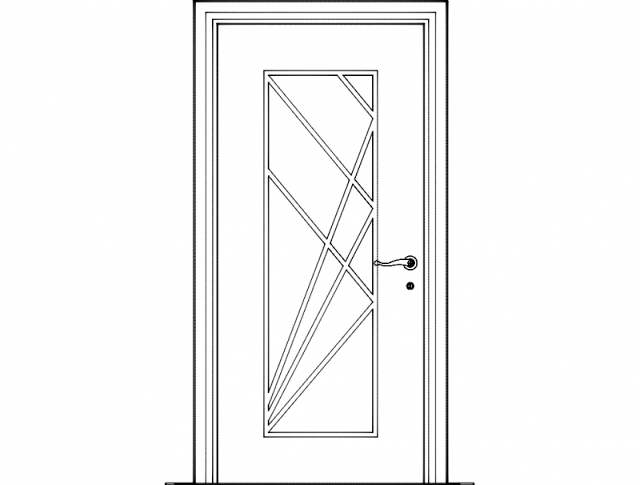 Modern Door Dxf File Free Download Download File Size: 197