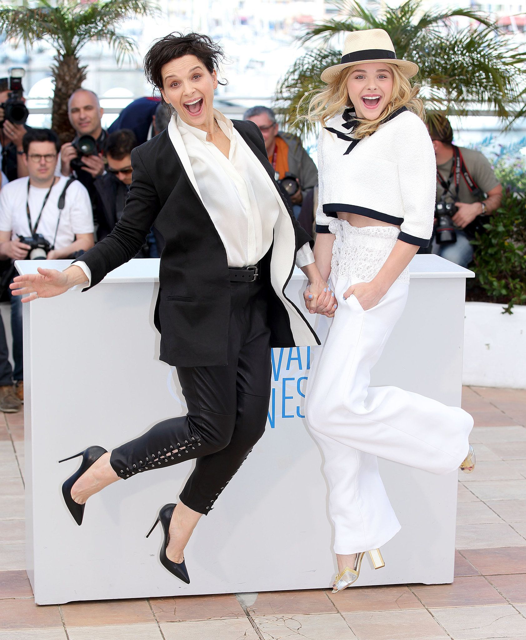 Chloe Grace Moretz And Juliette Binoche Got Animated While Promoting Clouds Of Sils Maria