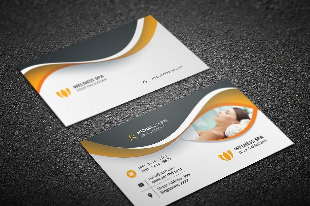 Spa Saloon Business Cards Spa Business Cards Salon Business Cards Business Cards Layout