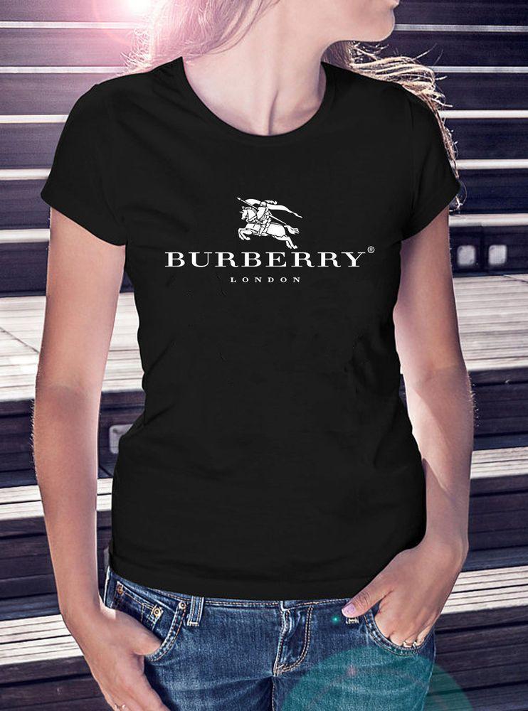 1Burberry Shirt Famous Fashion Luxury Brand Logo Women T-Shirt Gift S-XL  #2022 #fashion #clothing #shoes #accessories #wo… | T shirts for women,  Fashion, T shirts s