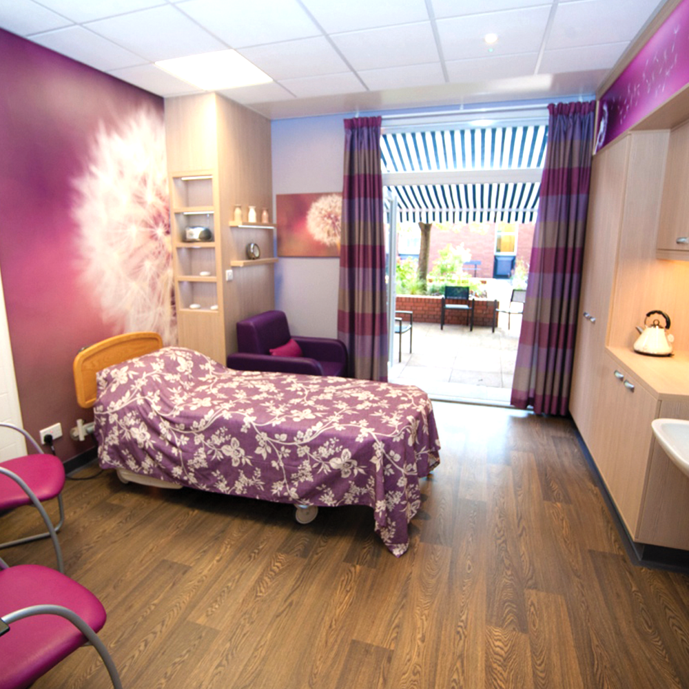 Purples relaxing bedroom hospital graphics design wallart mural purple