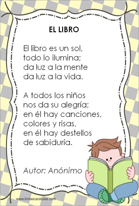 El Libro P Cuentos Cortos Para Imprimir Poemas Cortos Para Niños Poesía Para Niños
