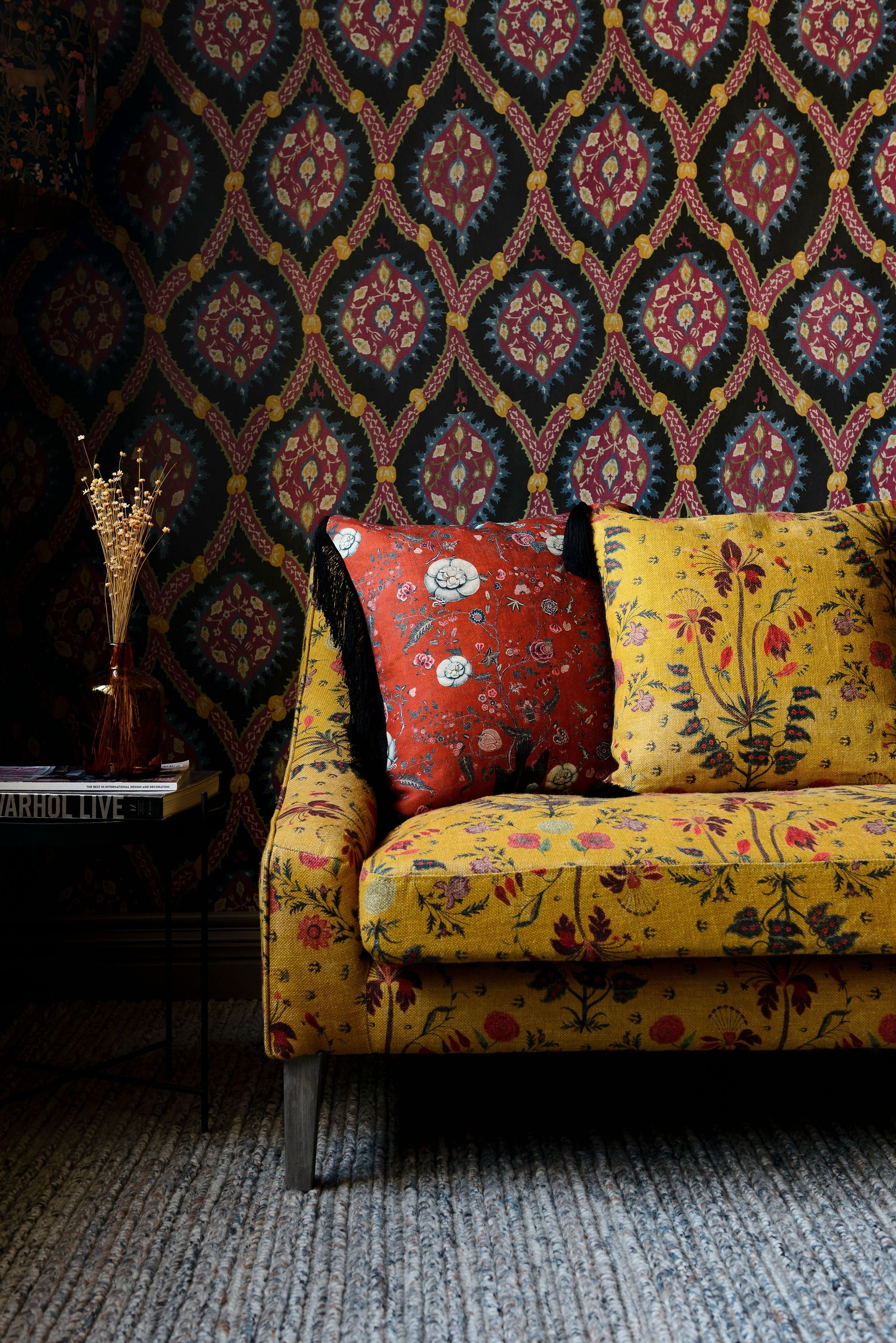 If you love eclectic home designs, large prints and bold ...