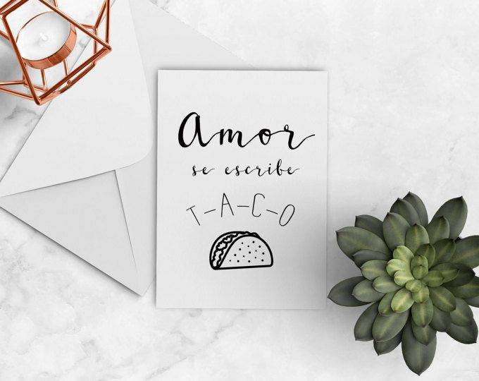 Printable Spanish Valentines Day Card Funny Greeting Card
