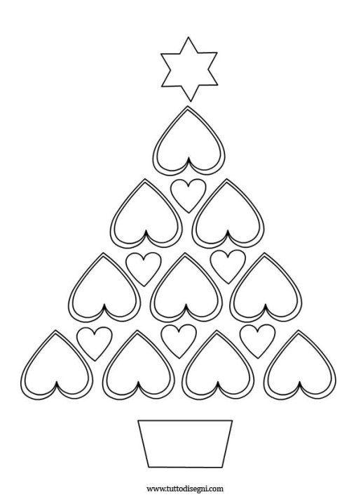 Patrones, artigianato, disegni da colorare, tela, colori, disegni di alberi,. Albero Natale Cuori 2 Carte Di Natale Fatti In Casa Natale Alberi Di Natale