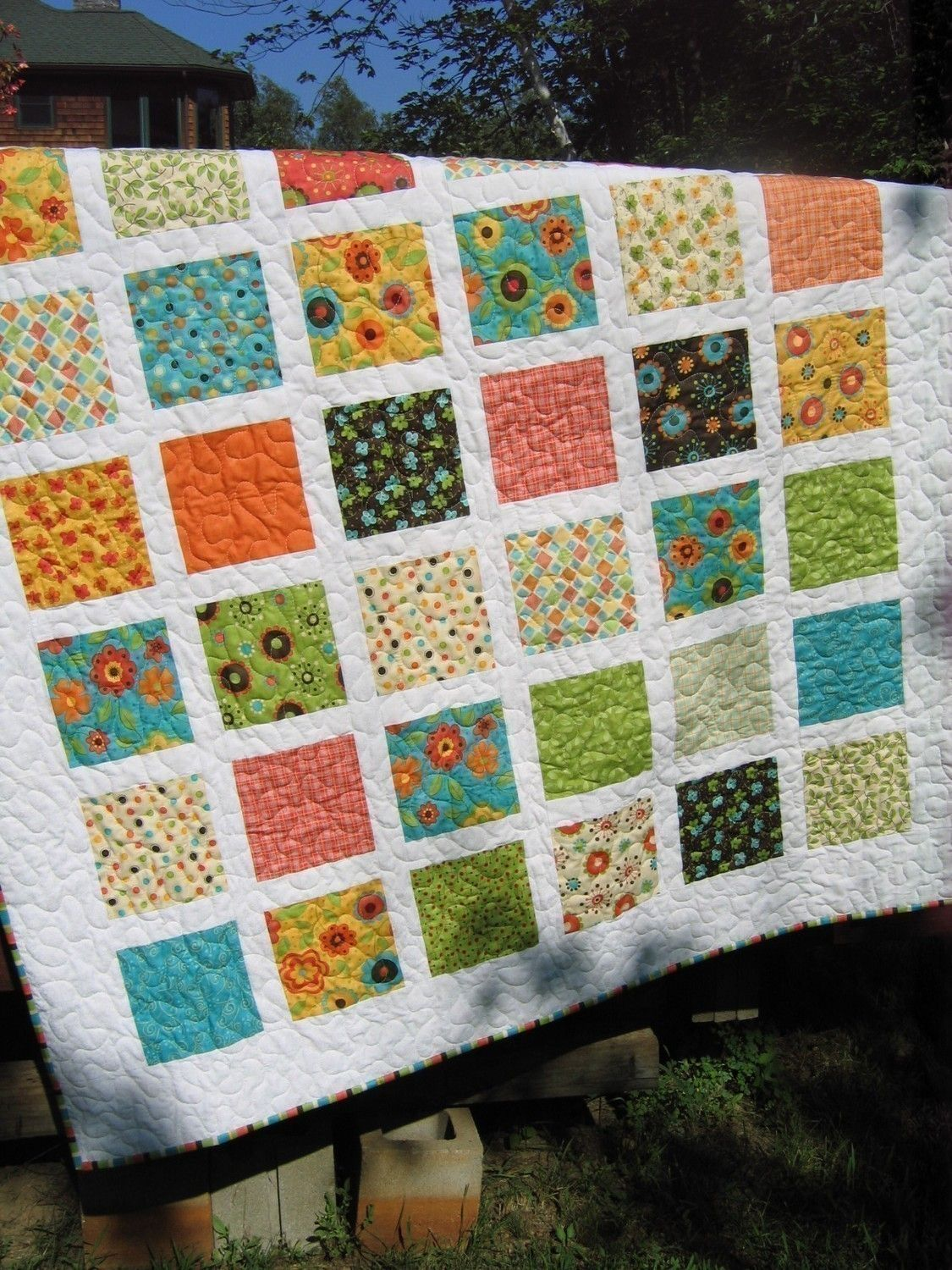 French Window Panes Quilt Pattern Simple Quick And