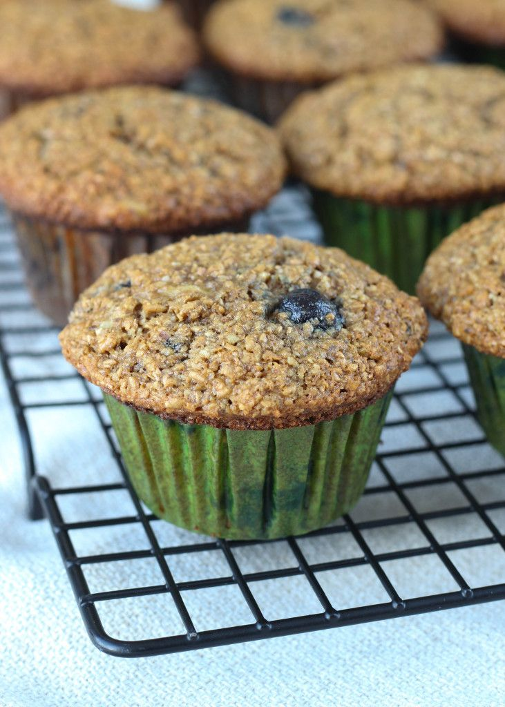 The Best Blueberry Banana Bran Muffins Ever Recipe Banana Bran Muffins Bran Muffins Flax Muffins