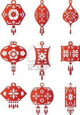 chinese contemporary design lanterns set 9 different designs