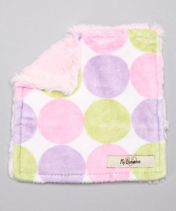 Look at this My Blankee Pink Retro Dot Velour Crinkleez Lovey on #zulily today!