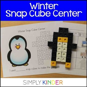 Winter Math Center Winter Math Centers Winter Math Snap Cubes