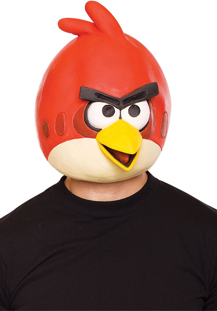 Red Angry Birds Mask, Angry Birds Fancy Dress - Video & Board Game ...