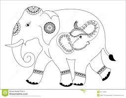 Resultado De Imagen Para Dibujos De Elefantes Hindues Para Colorear Almohadones Bordado Mexicano Elefantes Patrones De Bordado