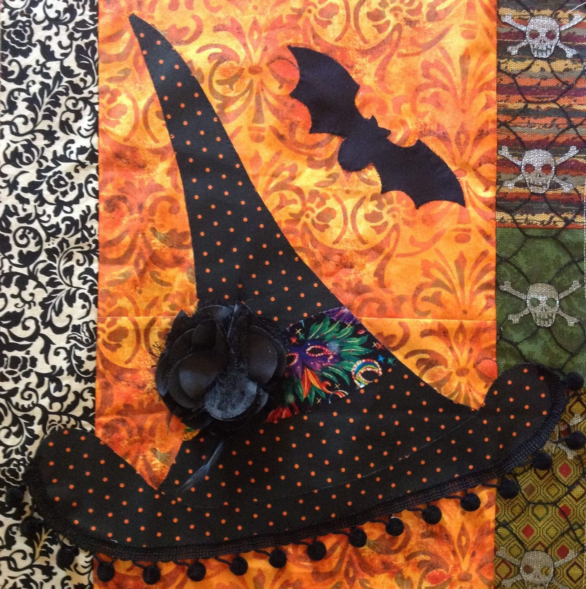 A block from my Halloween quilt . | Quilter choice | Pinterest