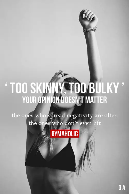 Too Skinny, Too Bulky