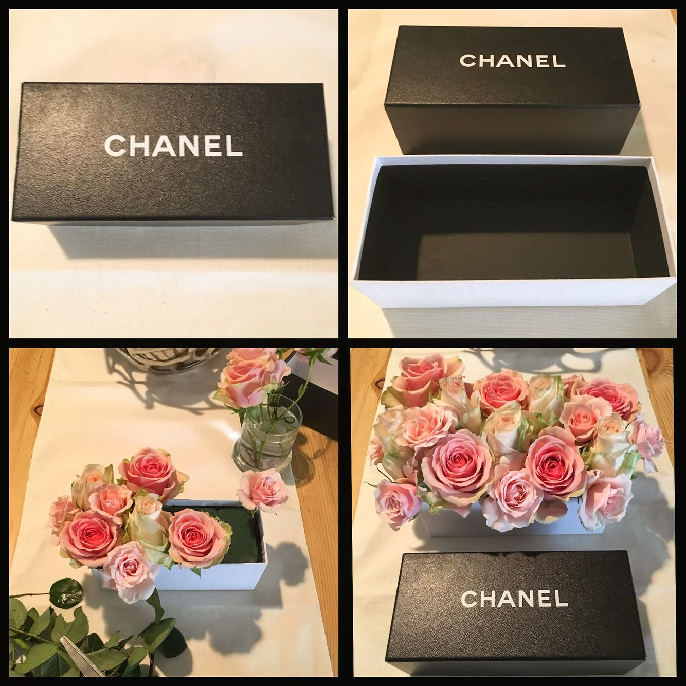 Flowers In A Box Diy Very Easy To Make You Can Turn Any Extra Box