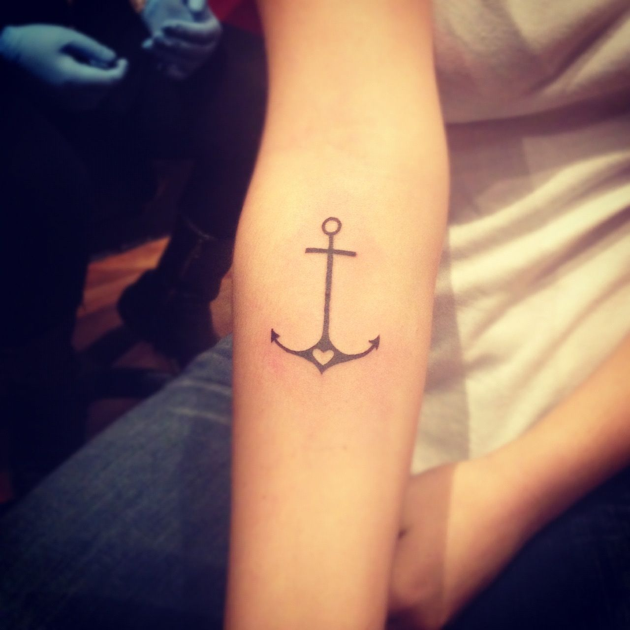 Faith love hope anchor tattoo i like the placement of for Placement of tattoos