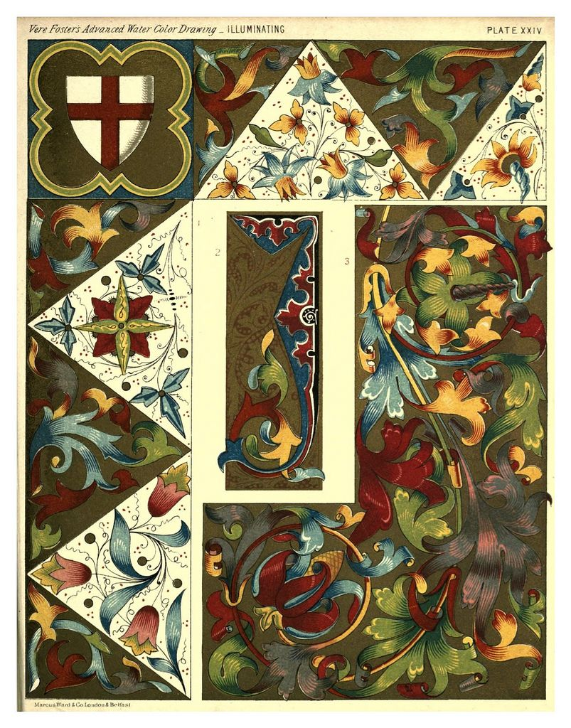 016 A Practical Treatise On The Art Of Illuminating 1873 Marcus Ward Art Medieval Pattern Illuminated Manuscript