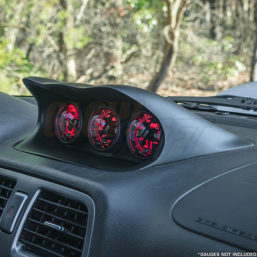 Glowshift Fiberglass Triple Gauge Dashboard Pod For 20022007 Subaru Wrx And Sti You Can Find More Details By Visiting The Image Link Wrx Subaru Wrx Subaru