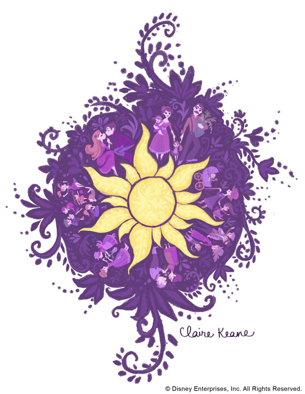 By Claire Keane Disney Art Disney Tangled Rapunzel