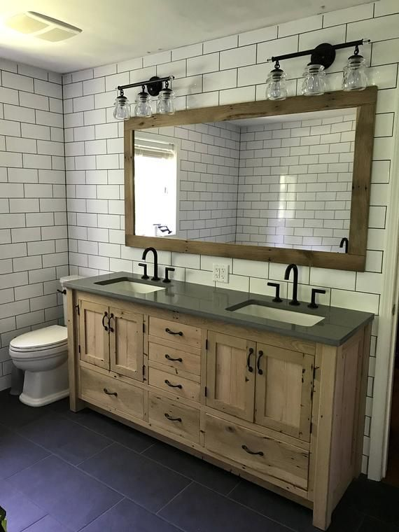 Rustic Bathroom Vanity 72  Dual Sink Reclaimed Barn   Etsy