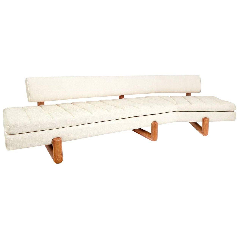 Aspen angled sofa modern curved sofa bench seat cushion