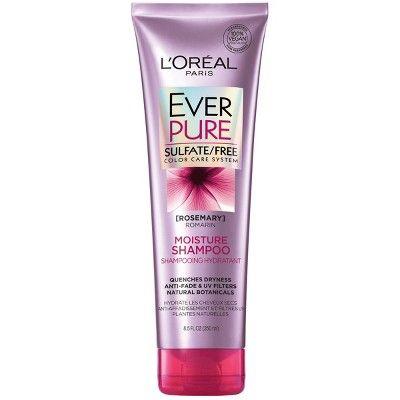 L Oreal Paris Everpure Sulfate Free Moisture Shampoo 8 5 Fl Oz Drugstore Shampoo Shampoo Free Moisturizing Conditioner