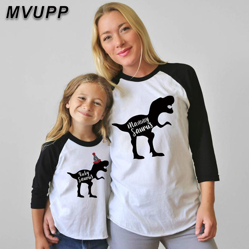 Mother Daughter Daddy Son Matching T-Shirts Long Sleeve Top for Family